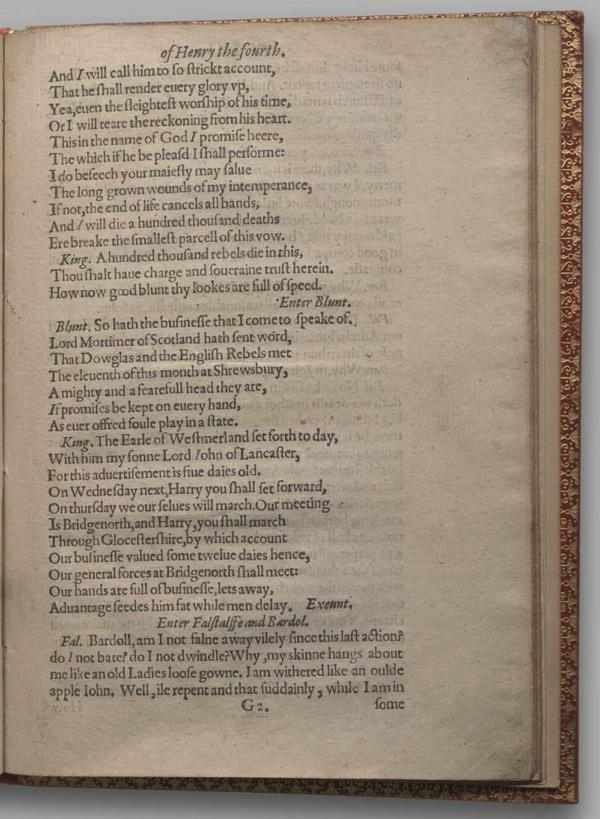 Image of Henry IV, Part I, Quarto 1 (Garrick), page 51