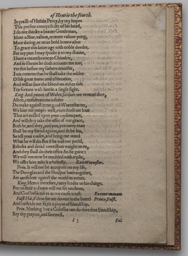 Image of Henry IV, Part I, Quarto 1 (Garrick), page
