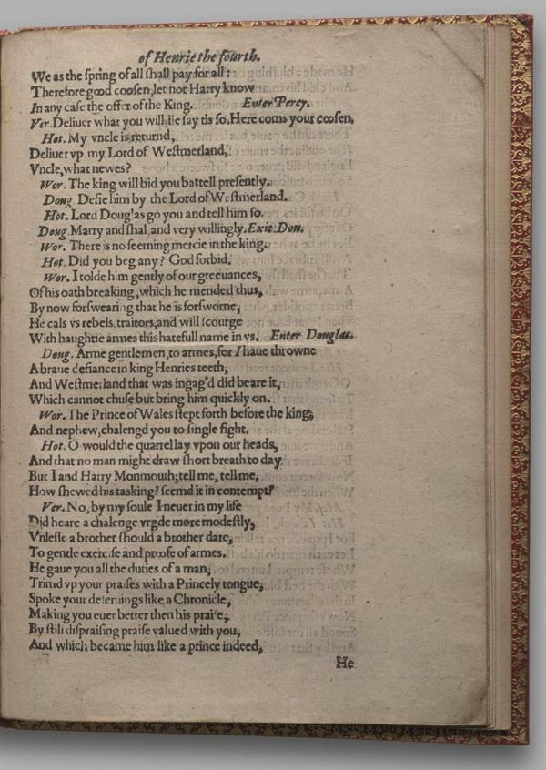 Image of Henry IV, Part I, Quarto 1 (Garrick), page 71