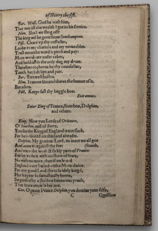 Image of Henry V, Quarto 1 (George III), page 17