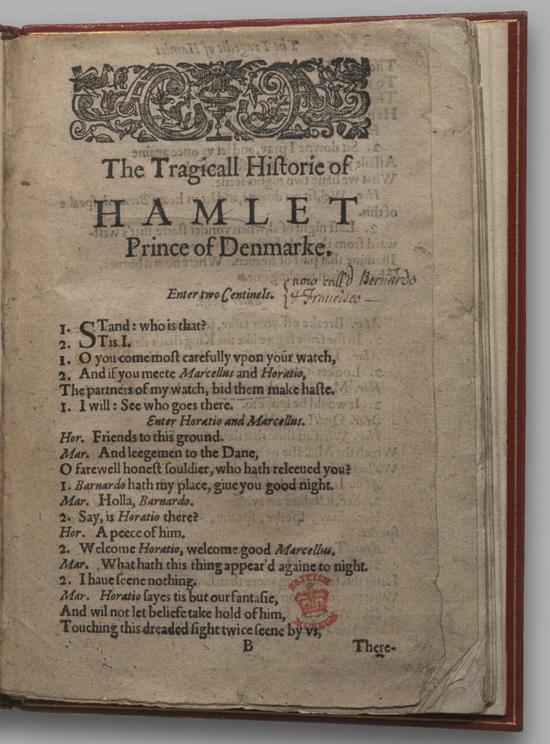 Image of Hamlet, Quarto 1 (Halliwell-Phillipps), page 1