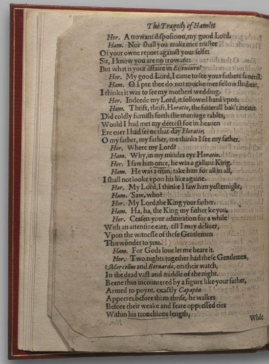 Image of Hamlet, Quarto 1 (Halliwell-Phillipps), page