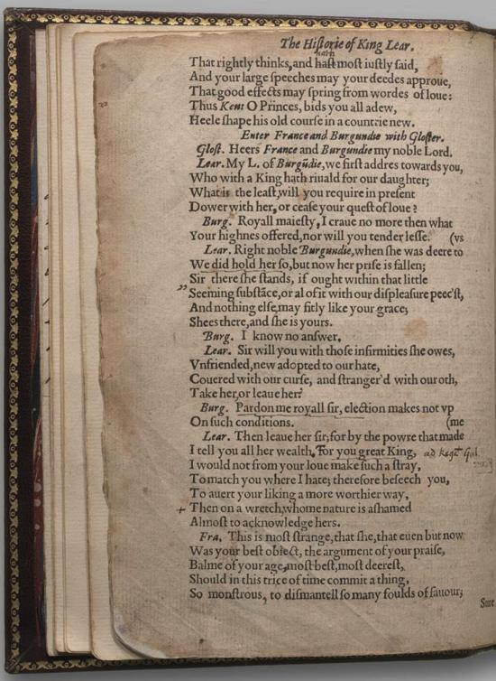 Image of King Lear, Quarto 1 (Halliwell-Phillipps (Alternate)), page 8