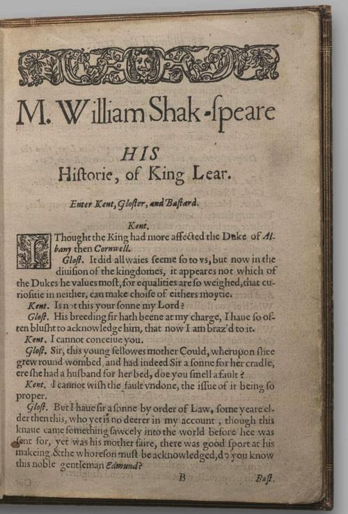 Image of King Lear, Quarto 1 (Halliwell-Phillipps (Perfect)), page