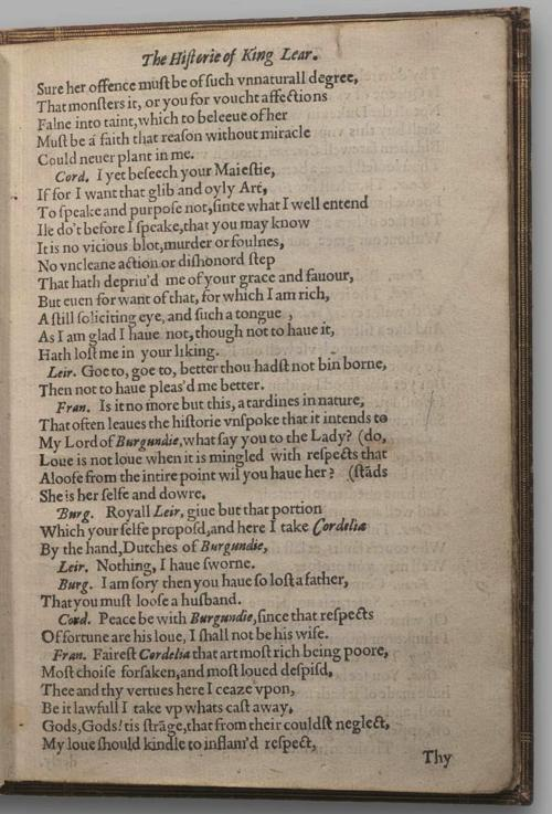 Image of King Lear, Quarto 1 (Halliwell-Phillipps (Perfect)), page 9