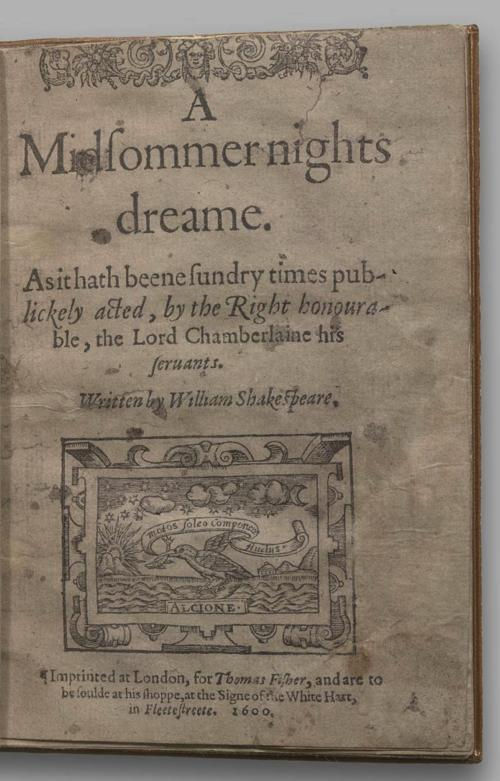Image of A Midsummer Night's Dream, Quarto 1 (British Library), page 1