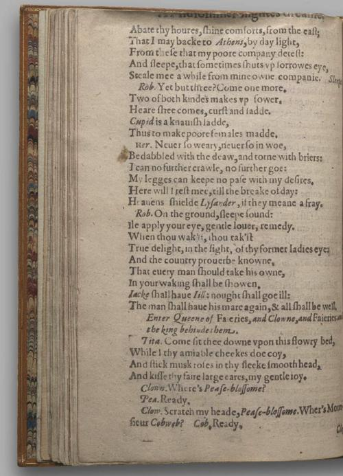 Image of A Midsummer Night's Dream, Quarto 1 (British Library), page 44