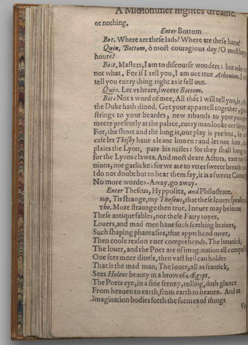 Image of A Midsummer Night's Dream, Quarto 1 (British Library), page 52