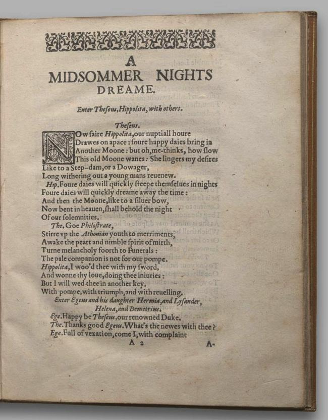 Image of A Midsummer Night's Dream, Quarto 2 (Garrick), page 3