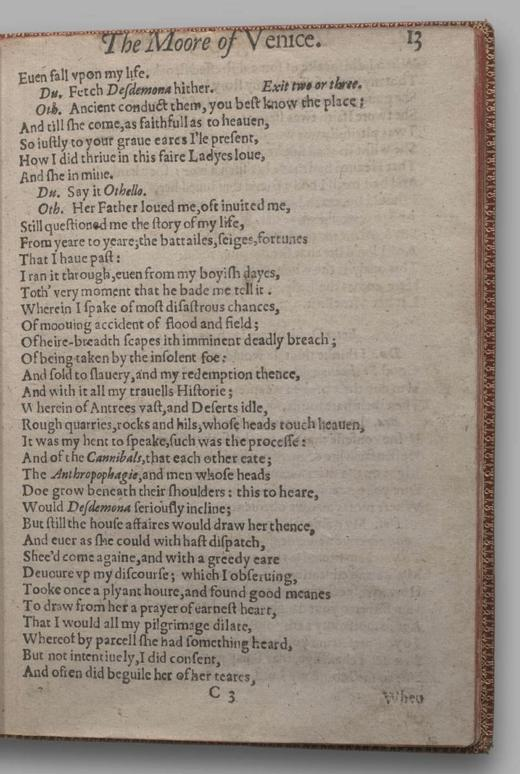 Image of Othello, Quarto 1 (British Library), page 17