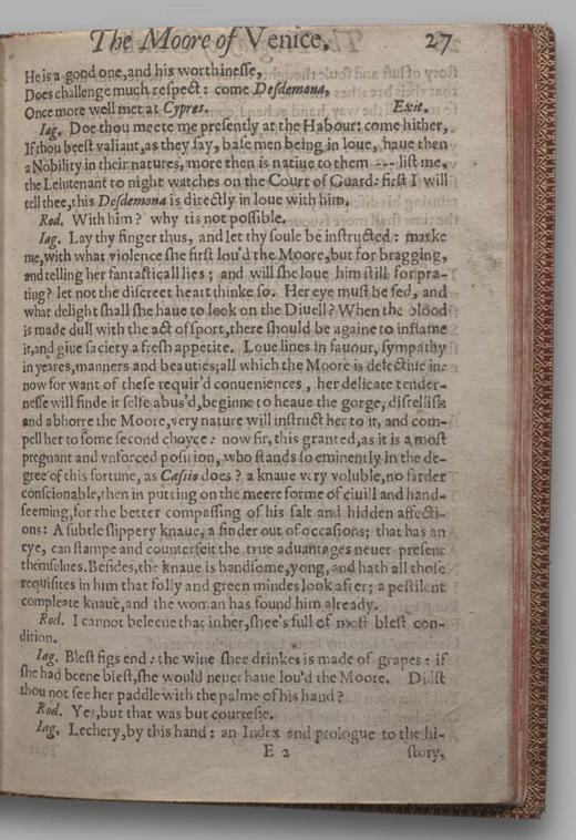Image of Othello, Quarto 1 (British Library), page