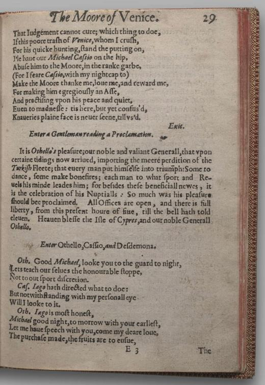 Image of Othello, Quarto 1 (British Library), page 33