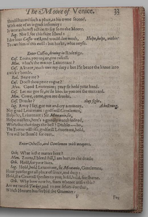 Image of Othello, Quarto 1 (British Library), page 37