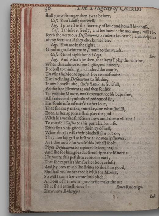 Image of Othello, Quarto 1 (British Library), page 42