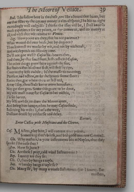 Image of Othello, Quarto 1 (British Library), page 43