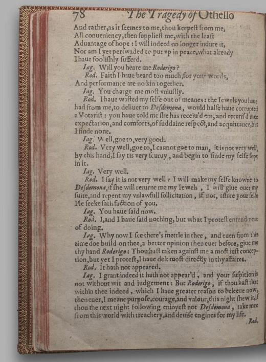 Image of Othello, Quarto 1 (British Library), page 78