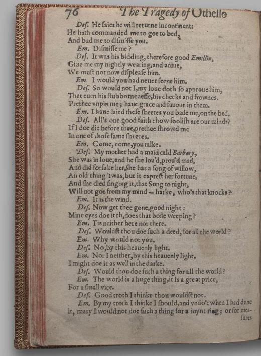 Image of Othello, Quarto 1 (British Library), page 80