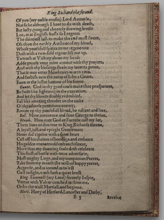 Image of Richard II, Quarto 1 (Huth), page 13