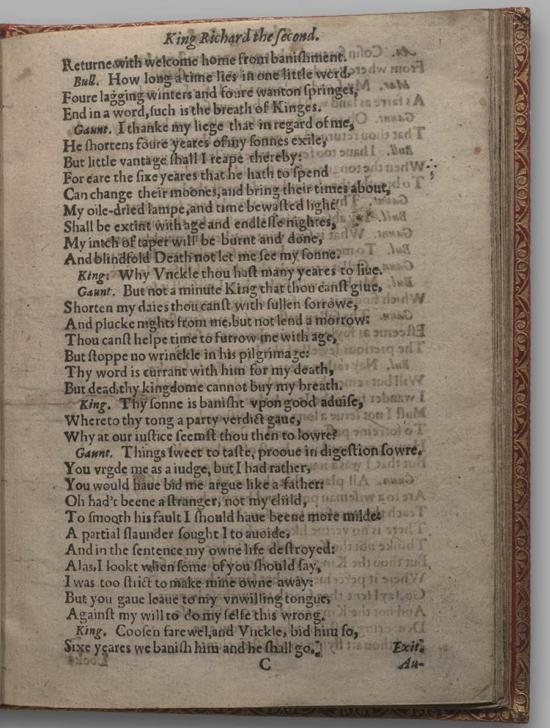 Image of Richard II, Quarto 1 (Huth), page 17