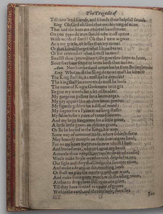 Image of Richard II, Quarto 1 (Huth), page