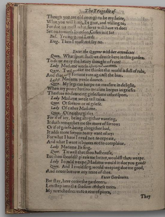 Image of Richard II, Quarto 1 (Huth), page 52