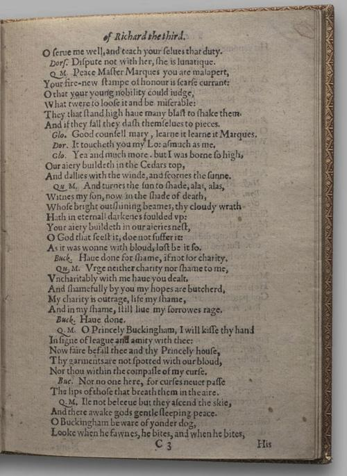 Image of Richard III, Quarto 1 (Huth), page 21