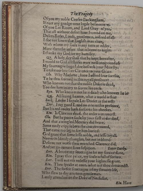 Image of Richard III, Quarto 1 (Huth), page 32