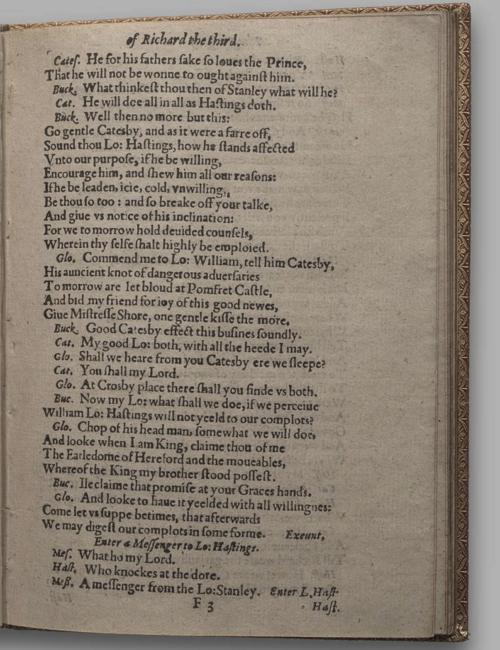 Image of Richard III, Quarto 1 (Huth), page 45