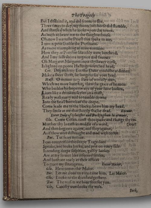 Image of Richard III, Quarto 1 (Huth), page 52