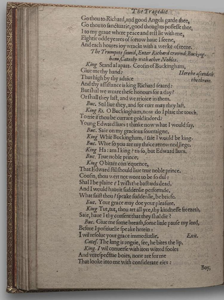 Image of Richard III, Quarto 1 (Huth), page 64