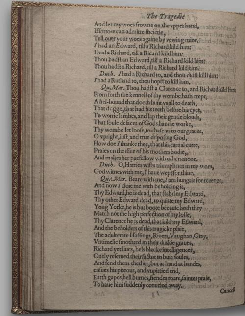 Image of Richard III, Quarto 1 (Huth), page 70