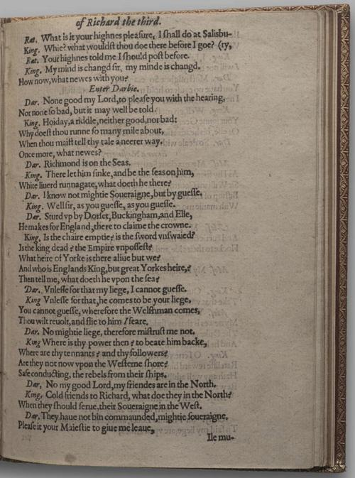 Image of Richard III, Quarto 1 (Huth), page 79