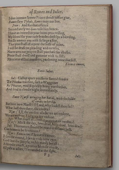 Image of Romeo and Juliet, Quarto 1 (Garrick), page 43