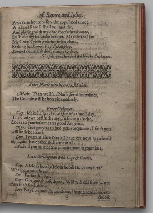 Image of Romeo and Juliet, Quarto 1 (Garrick), page 63