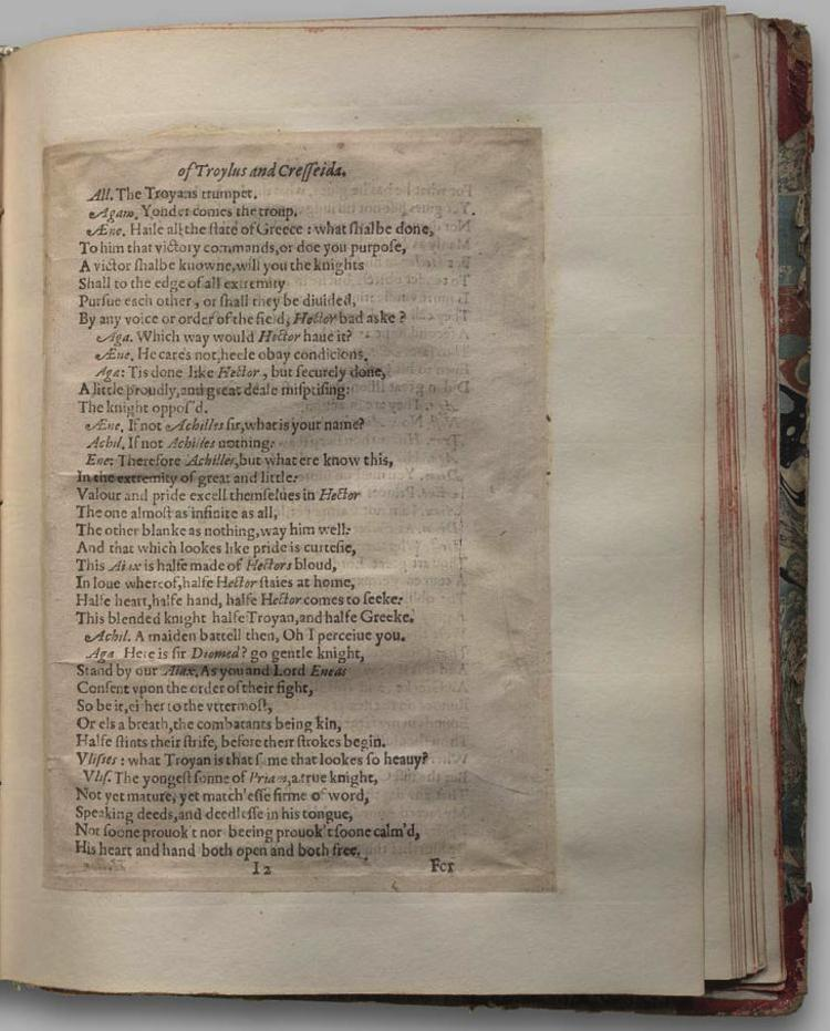 Image of Troilus and Cressida, Quarto 1 (George III), page 65