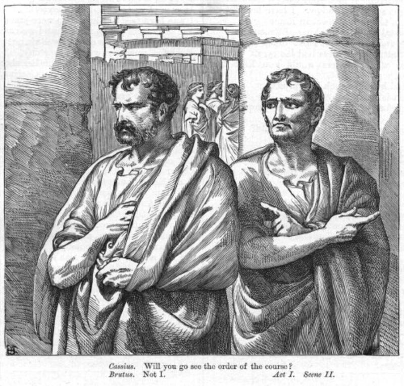 motive discussion of cassius and brutus Brutus and cassius, in participating in the brutal assassination of julius caesar, did something that was beyond what the roman people were willing to accept, even though their motives might have been noble in doing so.