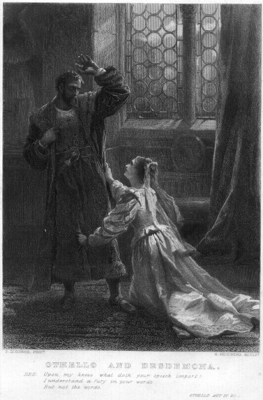 the tragic relationship between othello and desdemona in othello a play by william shakespeare